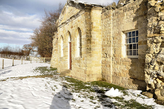 The Banqueting House in sun and snow