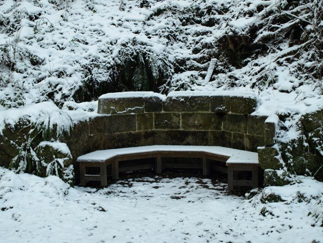 Kent's Seat in snow