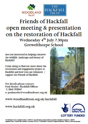 Hackfall meeting poster