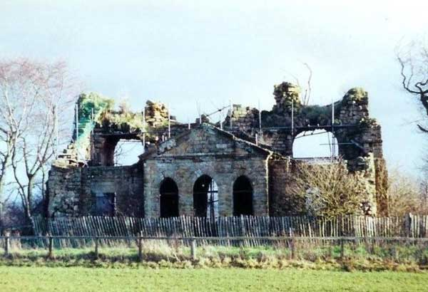 Hackfall ruin in a poor state 2001