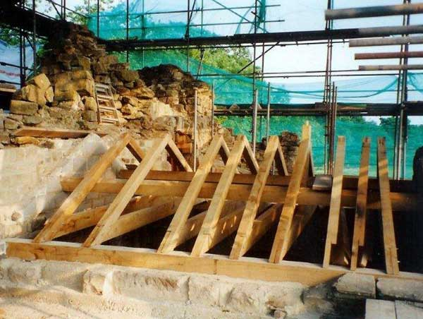 The Banqueting House roofing timbers